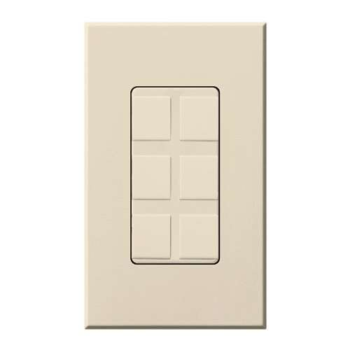 Lutron NT-6PF-LA Six Port Frame W/Blanks Nt* Light Almond Light Almond
