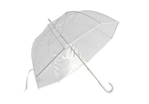 Clear Golf Bubble Umbrella Color: White Trim (Wayfair Patio Umbrella)