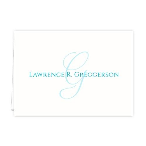 Monogramed Notecard Foldover Personalized Stationery - Set of 12 - 12 plain, white envelopes Photo #5