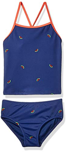 Amazon Essentials Girl's 2-Piece Tankini Set, Watermelons, Large (2piece Tankini)