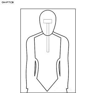 CARDBOARD OHIO TRAINING TARGET 100 PACK by Law Enforcement Targets
