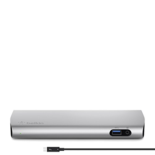 Belkin F4U095tt Thunderbolt 3 Express Dock (Compatible with 2016 MacBook Pro running OS X Sierra or later. Not compatible with PC) - Best Docking Station For Mac
