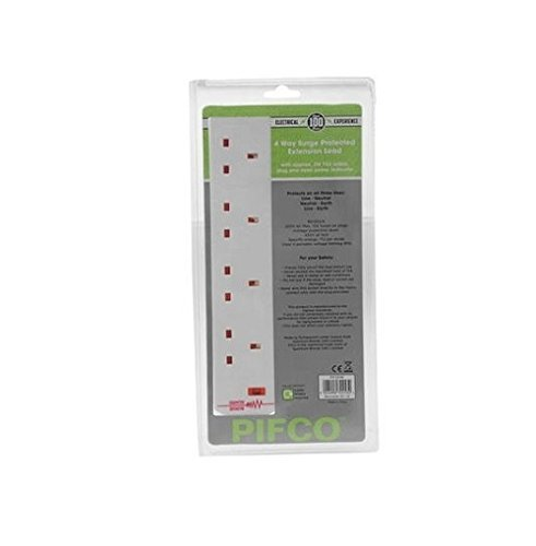 PIFCO PIF2048 Surge Protected 4 Gang Extension Lead 2M / 2 Metre Europasonic
