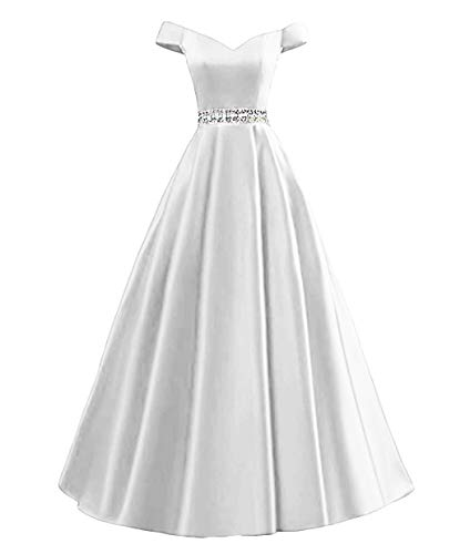 9accefa30f7 Dymaisei Women s Beaded Off Shoulder A-Line Evening Prom Dresses 2019 Long Formal  Dresses