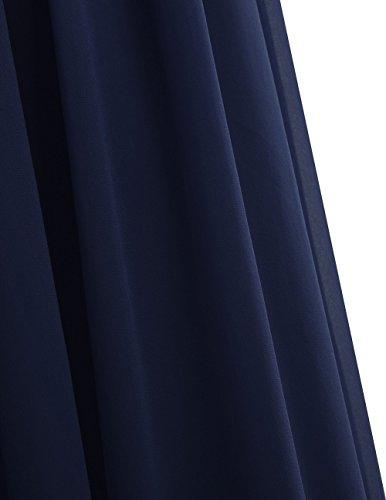 Azul Oscuro Boda Mujer Fiesta Elegante Cóctel Vestido Chica Largo Noche Fiesta de Freebily para Graduación BwS6nqZOZ