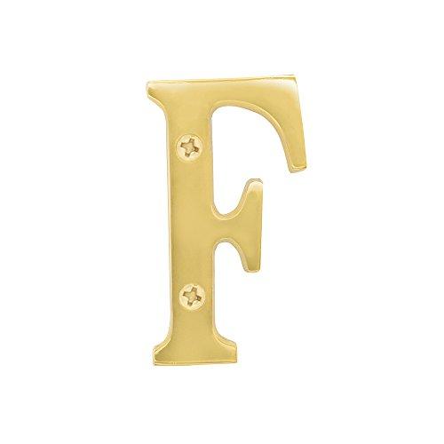 Salsbury Industries 1240B-F Solid Brass Letter - F, 3