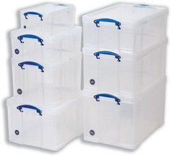 Really Useful Box 84C 84 Liter Box Transparent 710x440x380 mm PP