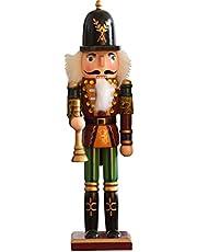 Dapuly Jul docka ornament, 30,48 cm trä jul nötknäppare figurer hantverk soldat docka miniatyrmodell heminredning present