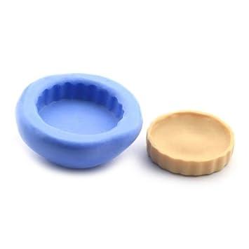 Amazon.es: MyTinyWorld Casa De Muñecas Miniatura Reutilizable Pequeño Plato De Flan Molde De Silicona: Juguetes y juegos