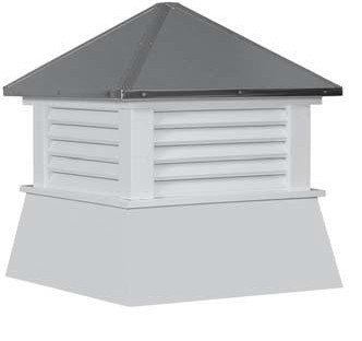 Cupola 16'' Shed Cupola Vinyl White Cupola Shed Vent by Shed Windows and More (Image #1)