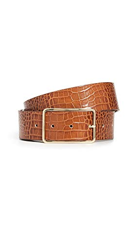 B-Low The Belt Women's Milla Croco Belt, Cognac/Gold, Medium Croco Embossed Leather Belt