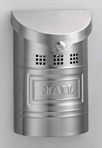 Fuoriserie Ecco 1 Brushed Stainless Mailbox - SS Label E1XM (Labels Mailbox Outdoor)