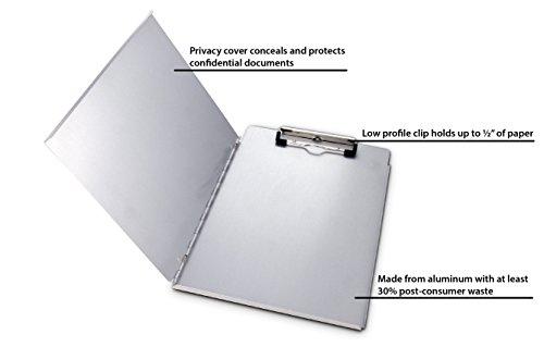 amazon com saunders recycled aluminum portfolio clipboard letter