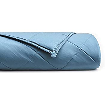 YnM Bamboo Weighted Blanket with 100% Pure Natural Bamboo Viscose | 25 lbs for 200-250 lbs Individual, 60