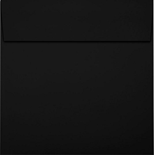 (6 x 6 Square Envelopes - Midnight Black (50 Qty) | Perfect for Invitations, Announcements, Greeting Cards, Photos | F-8525-B-50)