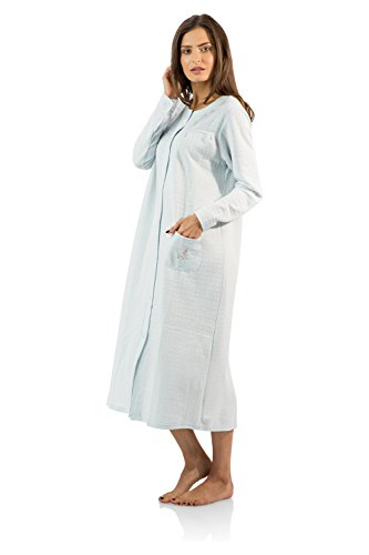 Casual Nights Women s Long Quilted Robe House Dress - Buy Online in ... 5760e6bda