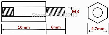 ShineBear 50pcs Motherboard Riser M3x10+6 Hexagon Copper Screws M310mm Hex Head Nut Computer PC Repair Power Screw Washer Tool HY028 Cable Length: 50pcs