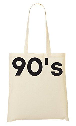 90'S Graphic Minimalistic Slogan Bolso De Mano Bolsa De La Compra
