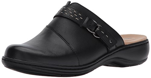 Clarks+Women%27s+Leisa+Sadie+Mule%2C+Black+Leather%2C+8.5+M+US