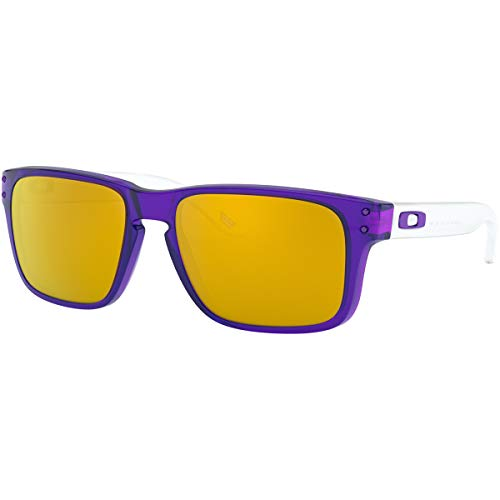 Oakley Men's Holbrook XS Sunglasses,OS,Translucent Purple/24k ()