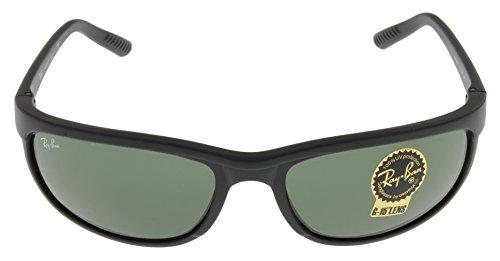 Ray Ban Predator Sunglasses Mens 100% UV Protection Black Rectangular RB2027 W1847
