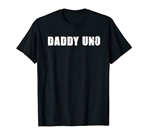 Mens Daddy Uno Number One Best Dad Gift 1 T-Shirt