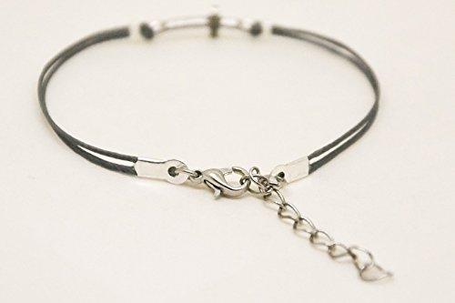 Cross bracelet, women bracelet with silver cross charm, christian catholic  jewelry, gray cord, gift for her, bridesmaids gift, grey bracelet