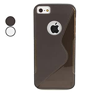 Anti-Skidding Design TPU Soft Case for iPhone 5/5S (Assorted Colors) --- COLOR:White