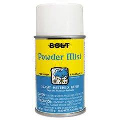 Bolt Metered Air Freshener Refill, Powder Mist, 5.3oz, Aerosol, 12/Carton
