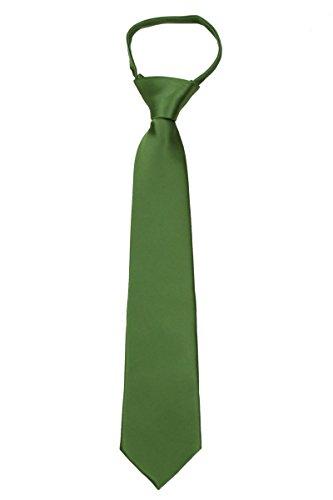 B-U-ZIP-ADF-47 - Boys 3-8 years old Solid Zipper Tie