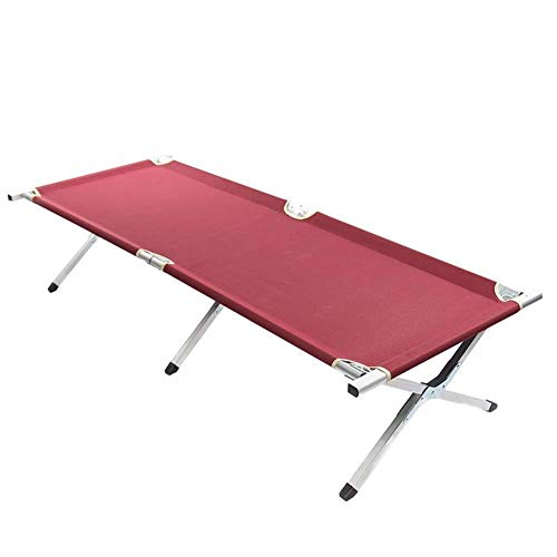 Anah Camping Cot Extruded Aluminum Frame Heavy Duty Classic Portable Stable Adult Travel Folding - Duty Cot Aluminum Heavy Folding