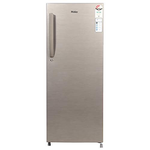 Haier 220 L 3 Star Direct-Cool Single Door Refrigerator (HED-22TDS, Dazzle Steel)