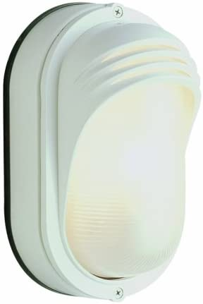 Trans Globe Lighting Trans Globe Imports 4124 WH Transitional One Light Bulkhead from Fringe Collection in White Finish, 4.00 inches, 8-1 2-Inch