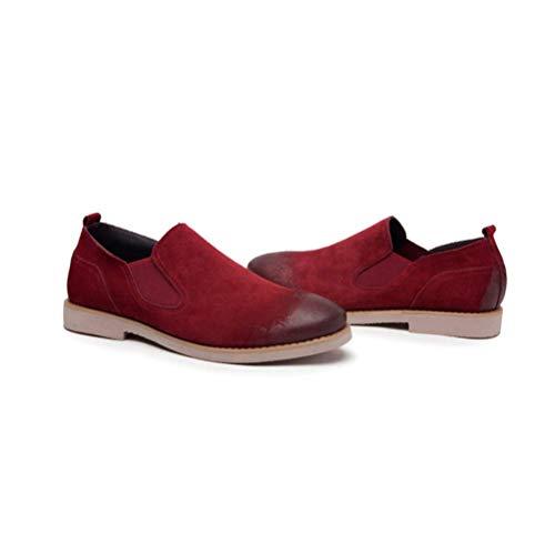 Red Cuero Juventud Moda Zapatos Simples Casual Verano Lyzgf Primavera Lazy Hombre De 1wq7nz5P