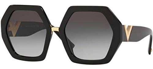 Valentino Optical Frames - Valentino Women's VA4053 VA/4053 5001/8G Black Fashion Square Sunglasses 57mm
