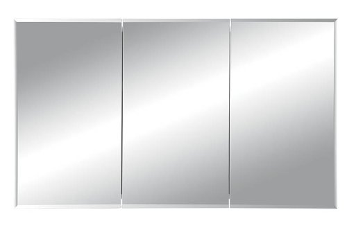 Jensen 255048 Horizon Frameless Medicine Cabinet, Tri-View Recessed Mount, 48-Inch by 28-Inch