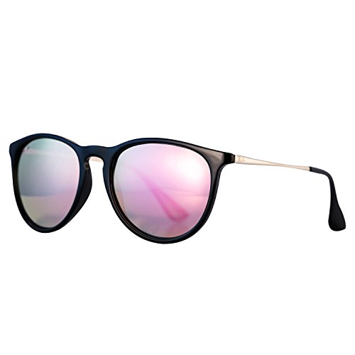 Pro Acme PA4171 Women's Erika Polarized Sunglasses,54mm (Polarized Pink Mirrored Lens) (Pink Polarized)