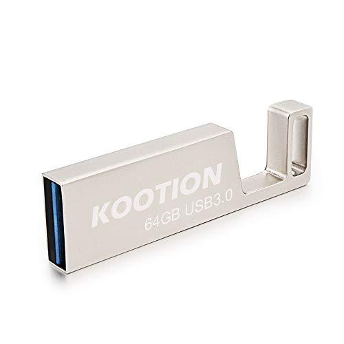 Kootion 64 GB Waterproof Metal USB 3.0 Flash Drive 64GB Thumb Drive Phone Stand Keychain Design