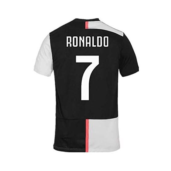 SALLARM Juventus # 7 T-Shirt Maillot de Football Cristiano Ronaldo 7 CR7 Homme Maillot & Enfants Soccer Jersey 19/20