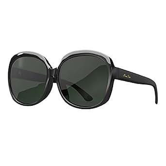 LianSan Acetate Oversized Women's Sunglasses Uv400 Protection Polarized Sunglasses Simple Sunglasses Lsp301H (POLARIZED BLACK)