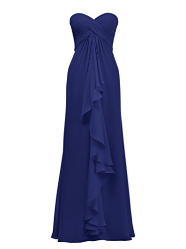 Chiffon Prom Gown Formal Bridesmaid Long Dresses Evening Royal A Dress Blue line Alicepub zq0wvU