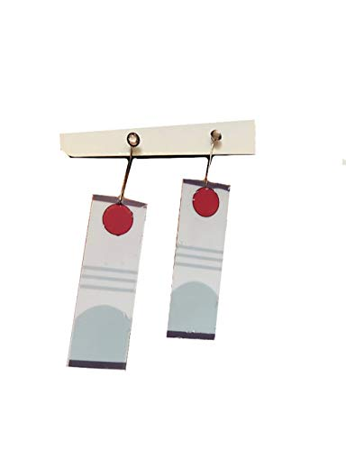 WOSHOW Demon Slayer Kimetsu no Yaiba Kamado Tanjirou Cospaly Earrings Props Accessory (2) -