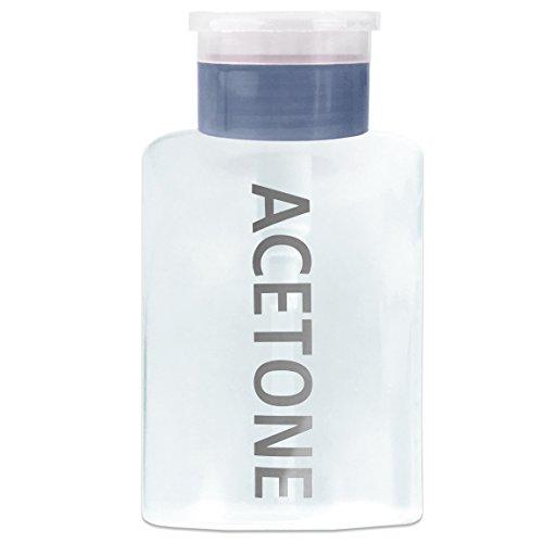Beauticom ACETONE Dispenser Bottle Labeled