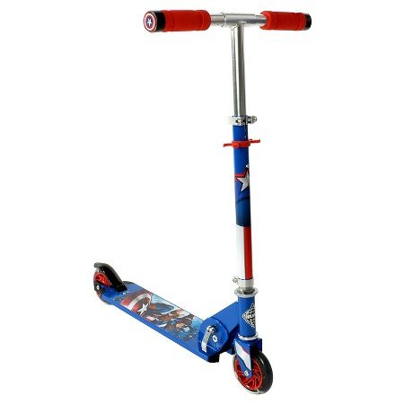 Huffy Captain America Folding Scooter - Blue - With Fun LED Lights !