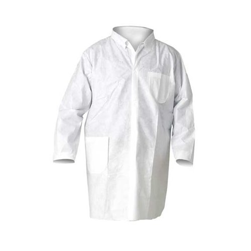 Kimberly Clark Safety 10039 KLEENGUARD A20 Breathable Particle Protection Lab Coats, X-Large (Pack of 25)