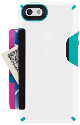 Speck Products CandyShell Card Case for iPhone 5/5S - White/Caribbean Blue by Speck (Image #3)
