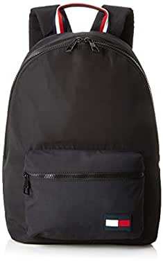 Tommy Hilfiger Men's Signature Tape Backpack Signature Tape Backpack, Black, One Size