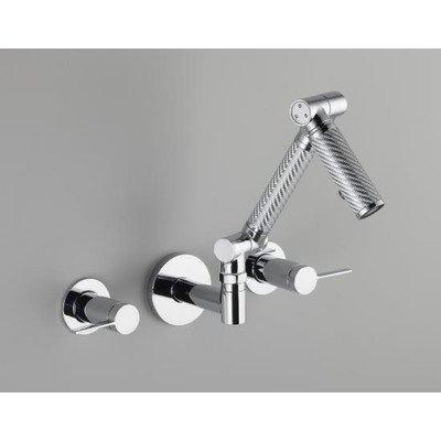 KOHLER Karbon Wall-Mount Lavatory Faucet Trim with Silver Tube