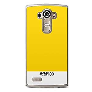 Pantone Colors LG G4 Transparent Edge Case - ffd700
