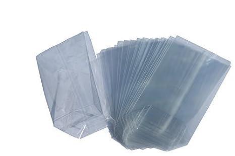 Beutel - Lote de 100 bolsas con base cuadrada (papel celofán ...